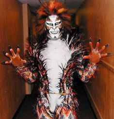 Macavity's makeup is almost tribal.