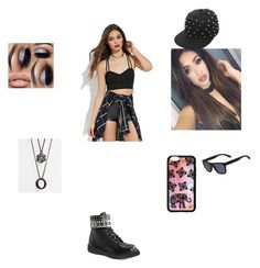 """outfit 1"" by beauitfulasiam on Polyvore featuring Forever 21, Demonia, ASOS and Lacoste"