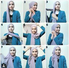 This is not a hijab. Hijab means covering your beauty and be modest. Square Hijab Tutorial, Simple Hijab Tutorial, Hijab Simple, Hijab Style Tutorial, Islamic Fashion, Muslim Fashion, Hijab Fashion, Women's Fashion, Modest Fashion