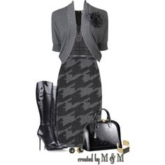 """Houndstooth!"" by marion-fashionista-diva-miller on Polyvore"