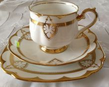 Royal Albert Art Deco  Tea Trio