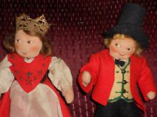 Vintage 7.5 Ronnaug Petterssen Cloth Doll Pair Norway