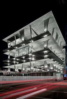 Herzog and De Meuron parking garage/retail in Miami. retail ground level & 5th floor