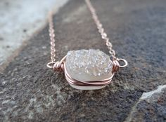 Check out this item in my Etsy shop https://www.etsy.com/listing/288092483/champagne-sideways-wire-wrapped-druzy