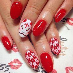 Aycrlic Nails, Dope Nails, Manicure, Nail Picking, Anime Nails, Japanese Nail Art, Diy Nail Designs, Nail Patterns, Japanese Patterns