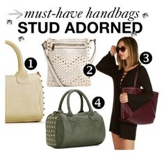 """""""Must-Have Handbags: Stud Adorned"""" by windsorstore on Polyvore featuring bag, studded, bags, embellished and handbags"""