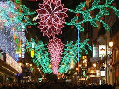 Christmas lights in Madrid street - brings back so many childhood memories...