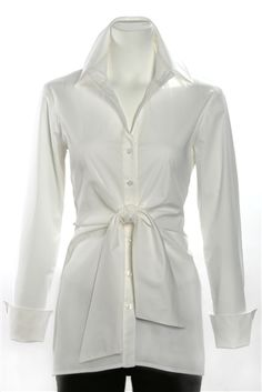 Finley Button Front Sylvia tunic White Belted Coat 2b730975fa