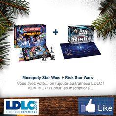 Monopoly Star Wars => http://www.maginea.com/fr/fr/c2203/p201407010090/monopoly+star+wars/  Risk Star Wars => http://www.maginea.com/fr/fr/c2203/p201302070014/risk+star+wars/
