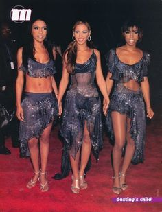 Beyonce and Destinys Child News Photo March 2001 Black Girl Magic, Black Girls, Beautiful Black Women, Beautiful People, Divas, Beyonce And Jay Z, Destiny's Child, 2000s Fashion, Fashion Night