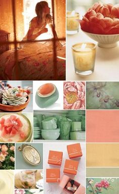 late summer wedding color schemes mint coral brighter yellow