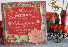 Paperlipopette's Christmas Card, create with Christmas Cheer Chowder paper collection (Jillibean Soup)