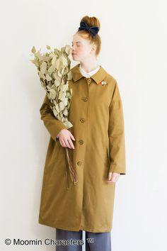 衿もとからこんにちは。|リトルミイ 衿からひょっこりビッグシルエットコート Forest Girl, Mori Girl, Syrup, Girl Fashion, Raincoat, Jackets, Shopping, Style, Women's Work Fashion