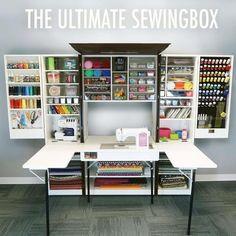 Du suchst den ultimativen, übersichtlichen, dekorativen Platz für deine Nähmaschine und Hobby?Mit unserer Ultimate SewingBox hast du ihn endlich gefunden.