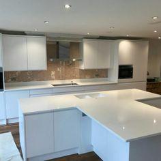 Bianco Puro - Broxbourne, Herts - Rock and Co Granite Ltd White Quartz, Granite, Kitchen, House, Home Decor, Cooking, Decoration Home, Home, Room Decor
