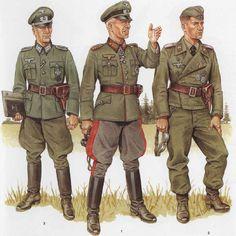 tysk general med sin stab, et sted i rusland