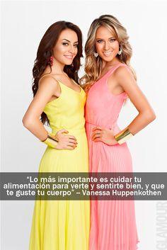 Las frases más glamorosas de las it girls que protagonizaron nuestra portada Marimar Vega y Vanessa Huppenkothen, en la edición de Abril 2013.