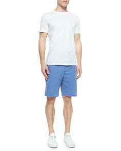 Raleigh Washed Twill Shorts, Light Blue