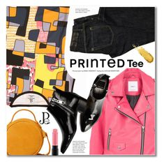 """PRINTED Tee"" by svijetlana ❤ liked on Polyvore featuring MANGO, Dsquared2, Dolce Vita, MAC Cosmetics, printedtee and pinareris"