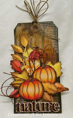 Créations A les trésors: Étiquette d'automne