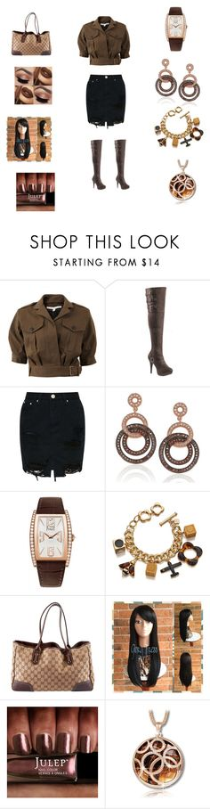 """Untitled #215"" by edatgirl ❤ liked on Polyvore featuring Veronica Beard, Pleaser, Suzy Levian, Piaget, Orla Kiely and Gucci"