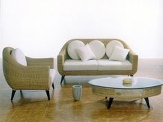 Rattan Living Room Sets.  #furniture #comfortable #chair #homefurniture #interiordesign #homedecor