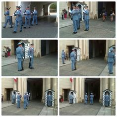 Changing of the guards at one of the gates into the Prague Castle