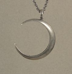 Moon Jewelry  Silver Moon Pendant by VampireGothic on Etsy