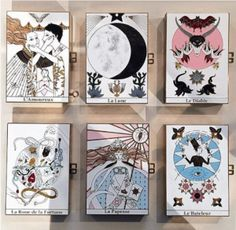 Dior Multicolor Tarot Printed Minaudiere Bags