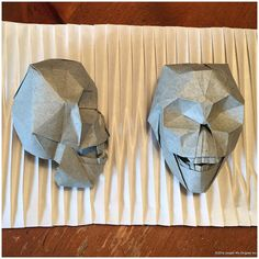 Skull (2003 design). Successfully reconstructed. by Joseph Wu Origami