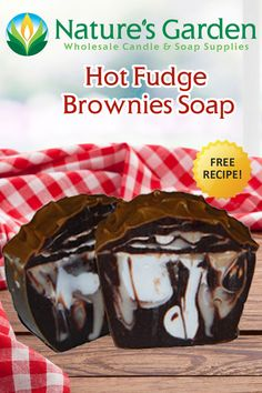 Free Hot Fudge Brownies Soap Recipe by Natures Garden.