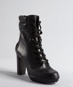 Combat High Heel Boots - Boot Hto