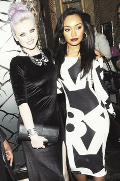 Perrie Edwards and Leigh-Anne Pinnock - WOW LeighAnne i love your hair and dress!