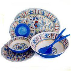 Italian Blue Pottery- itu0027s actually melamine and kid-friendly!  sc 1 st  Pinterest & Talavera in Azul Dinner Plate - melamine | Blue and White ...