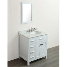 "Found it at Wayfair Supply - 30"" Single Bathroom Vanity Set with Mirror"