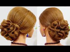 Wedding prom hair tutorial for medium hair. Updo hairstyles - YouTube