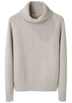 I'd love to knit a sweater like this one, once pullovers are a reasonable option again.