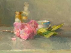 Christine Lafuente Cherry Blossoms 2012 - still life quick heart Art Floral, Floral Watercolor, Illustration Pen And Ink, Tea Cup Art, Impressionism Art, To Infinity And Beyond, Shabby, Hyperrealism, Beauty Art