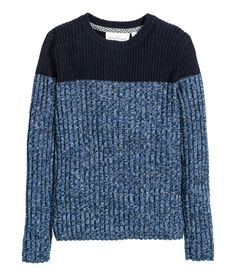 H&M colour-block rib-knit jumper