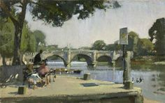 Paul Rafferty About Exhibition Richmond Bridge, Richmond Upon Thames, London History, River Thames, London Art, Cityscapes, Ponds, Oil Paintings, Rivers