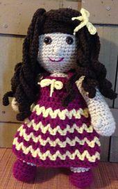 Crochet pattern by Gramma Beans for Miss Margarita Dolls #mmmakers