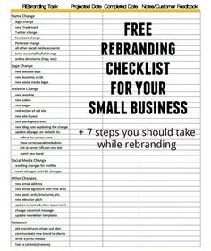 Branding or re-branding your #smallbusiness? Download our free checklist and check out our tips on the process of small business or freelance rebranding.