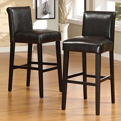 @Overstock - These Bennett barstools feature brown, faux leather seats and black legs. These barstools are elegant and modern, sure to enhance any dining decor.http://www.overstock.com/Home-Garden/Bennett-29-inches-Brown-Faux-Leather-Barstools-Set-of-2/5163073/product.html?CID=214117 $176.14