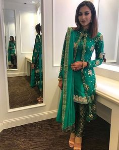 Security Check Required - WhatsApp: Bringing luxury Indian fashion at your fingertips Specialize in HAND EMBROI - Pakistani Wedding Outfits, Pakistani Dresses, Indian Outfits, Indian Dresses, Indian Party Wear, Indian Wear, Indian Designer Suits, Salwar Designs, Unique Outfits