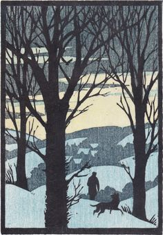Woodcut for Christmas card by Andrew Davidson http://www.andrewdavidsonillustration.com/