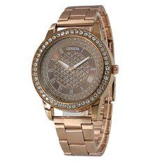Women Watch 2017 Stainless Steel Luxury Geneva Watches Ladies Fashion Bracelet Gold Quartz Watch Wrist Watches For Women &20