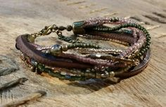 Khaki Green, Green And Brown, Swarovski, Shops, Plum Color, Boho, Brown Leather, Shabby Chic, Beads