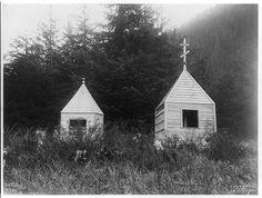Russian cemetery, Alaska. Wooden tombs] Contributor Names Curtis, Edward S., 1868-1952, photographe