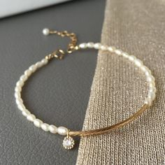 14K Gold Filled Bracelet with Fresh Water Pearls Main View