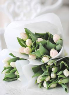 Chic White Tulips
